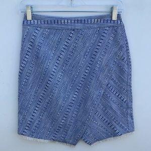 LOFT Woven Mini Pencil Skirt NWD Petites 2P #1462